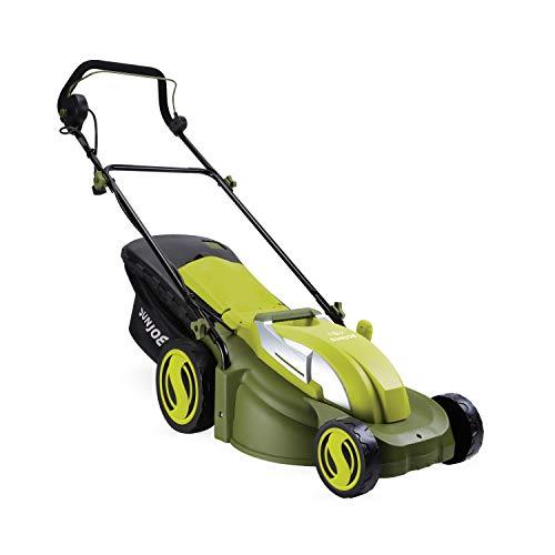 Sun Joe MJ403E 17-Inch 13-Amp Electric Lawn Mower/Mulcher, 7-Position Adjustment, 12-Gallon Detachable Grass Collection Bag, Lightweight, Standard, Green