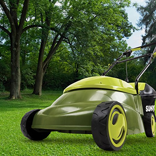 Sun Joe MJ401E 14-Inch 12 Amp Electric Lawn Mower with Grass Bag, Green