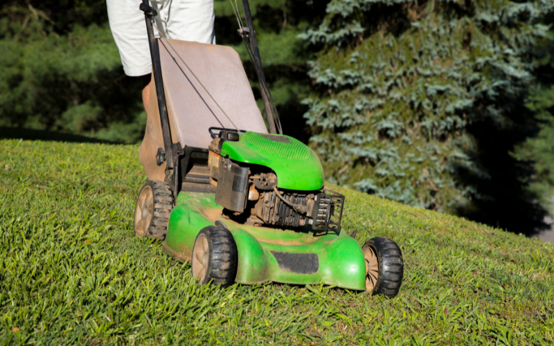Self-Propelled Lawn Mowers are great for hills and inclines